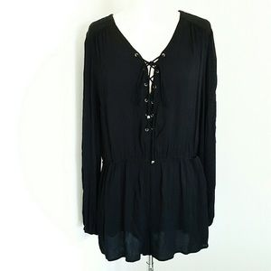 Current Air Black Long Sleeve Romper